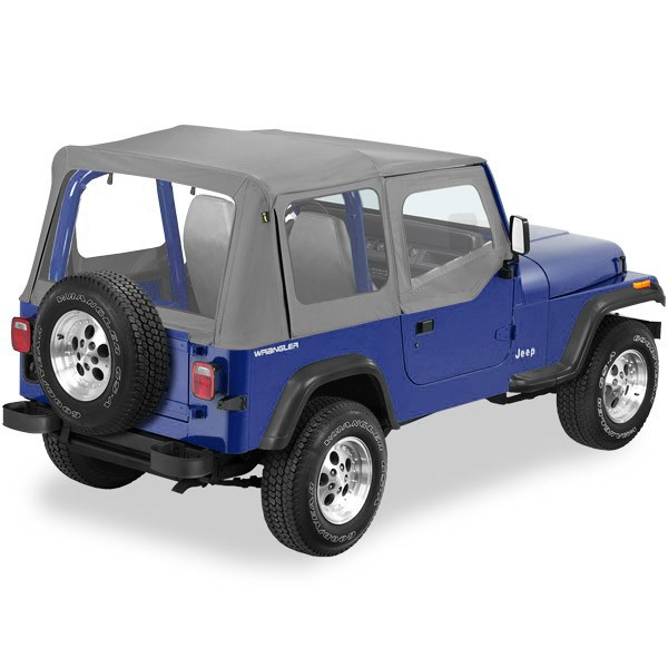Pe Soft Top Replay Charcoal 51130 Jeep Wrangler Parts