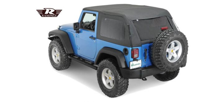 Rampage Frameless Soft Top - Jeep Wrangler Parts