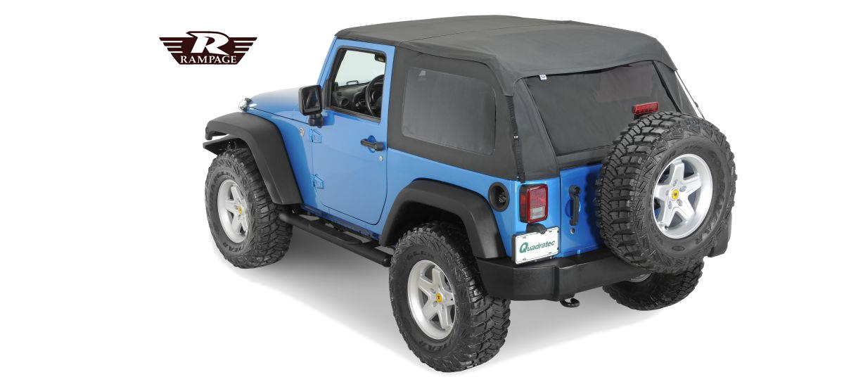 Rampage Frameless Soft Top Jeep Wrangler Parts