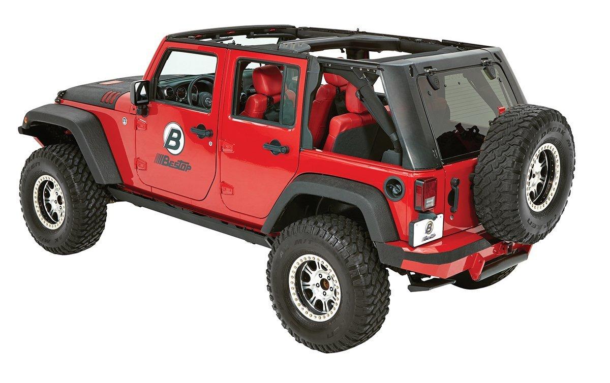 Bestop Trektop Pro Hybrid 4 Door Side Jeep Wrangler Parts