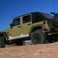 Poison Spyder Brawler Rockers on a Jeep JK Unlimited