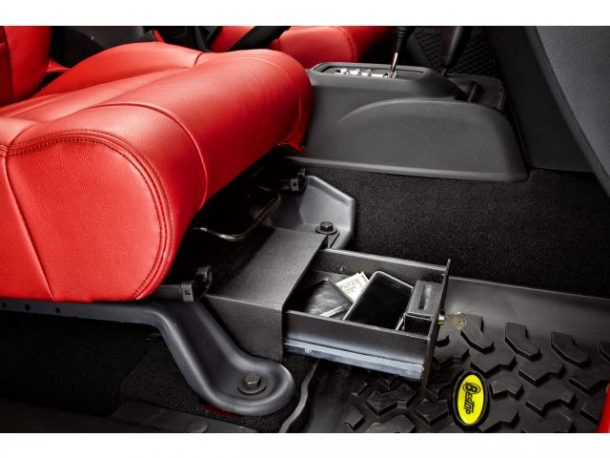Under Seat Locking Storage Box