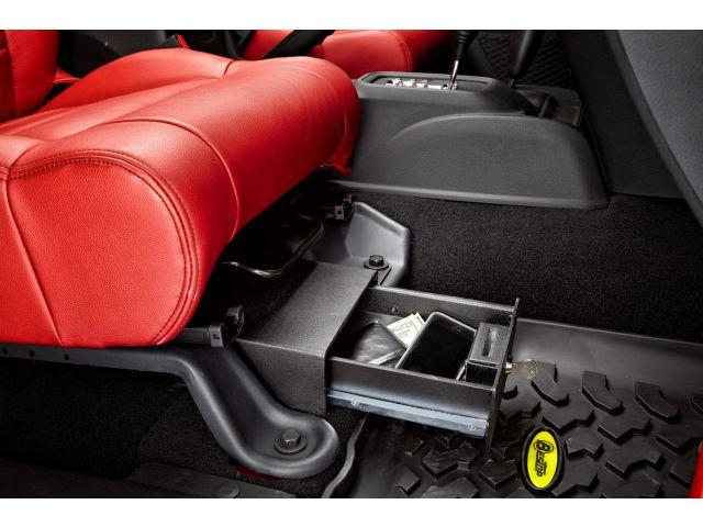 Under Seat Locking Storage Box Jeep Wrangler Parts