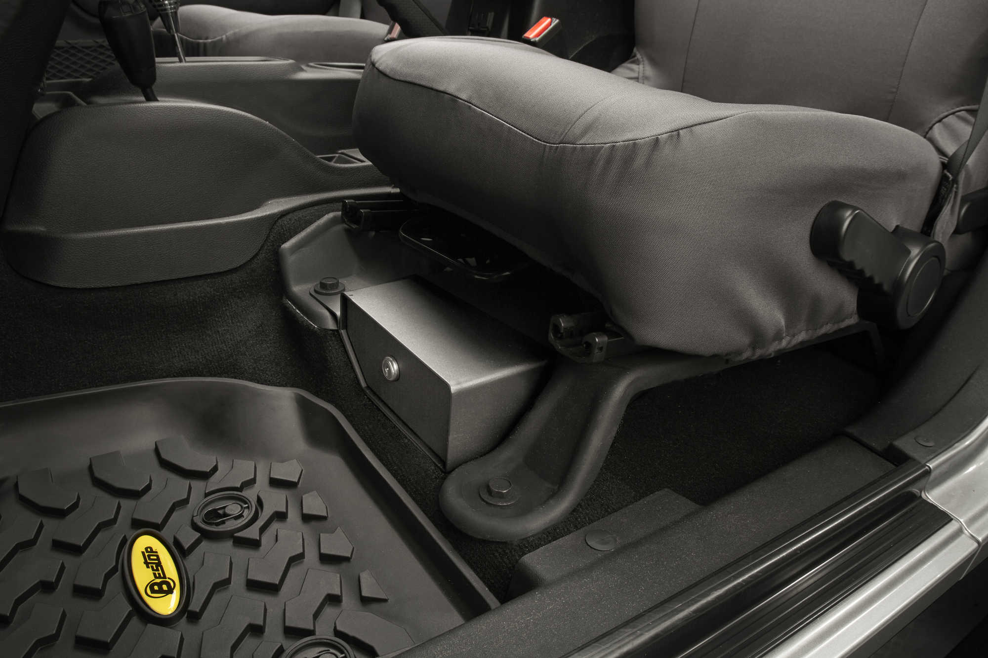Locking Under Seat Storage Box 6 Jeep Wrangler Parts