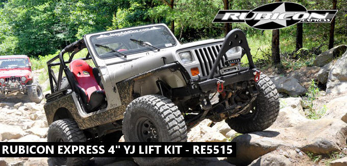 rubicon express 4 yj lift kit jeep wrangler parts. Black Bedroom Furniture Sets. Home Design Ideas